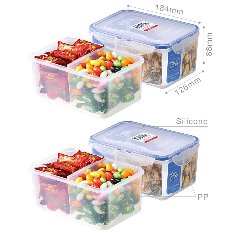 Easylock FDA Large Capacity Food Containers with Dividers