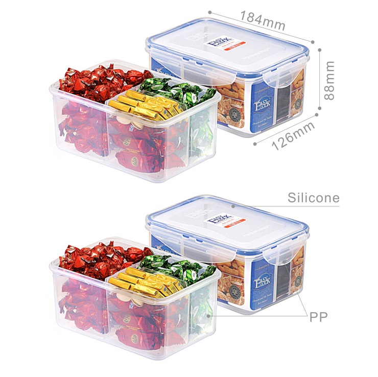 BPA Free FDA Reusable Sealed Divided Food Containers