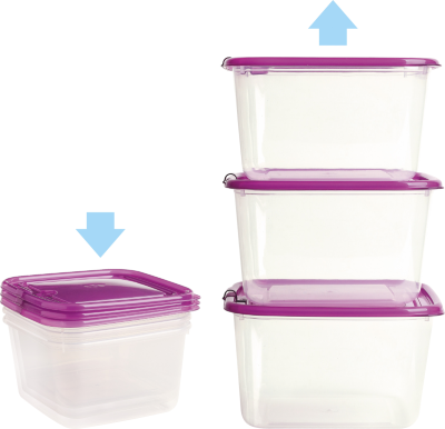 Absolutely Airtight Plastic Food Containers with BPA Free Lid