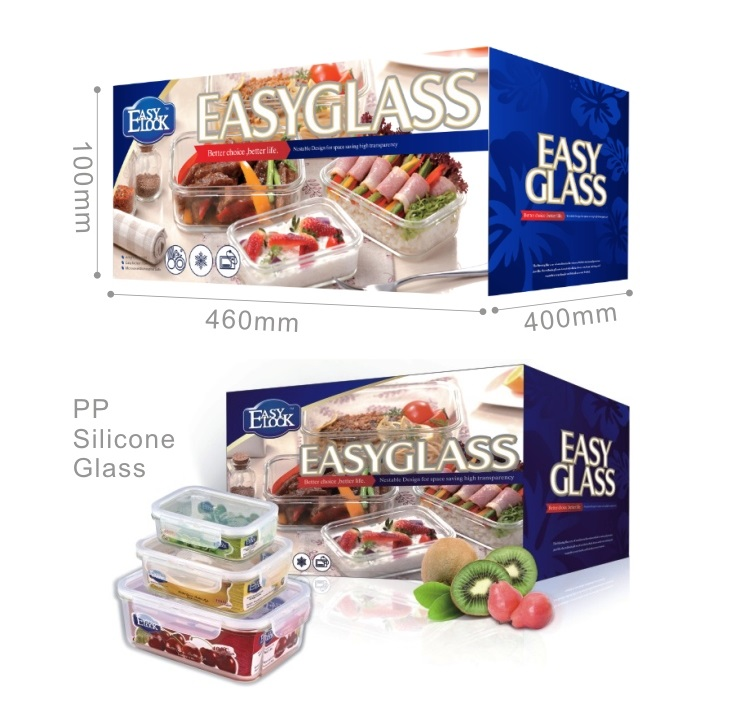Promotional Rectangular High-Borosilicate Glass Food Storage Container Sets