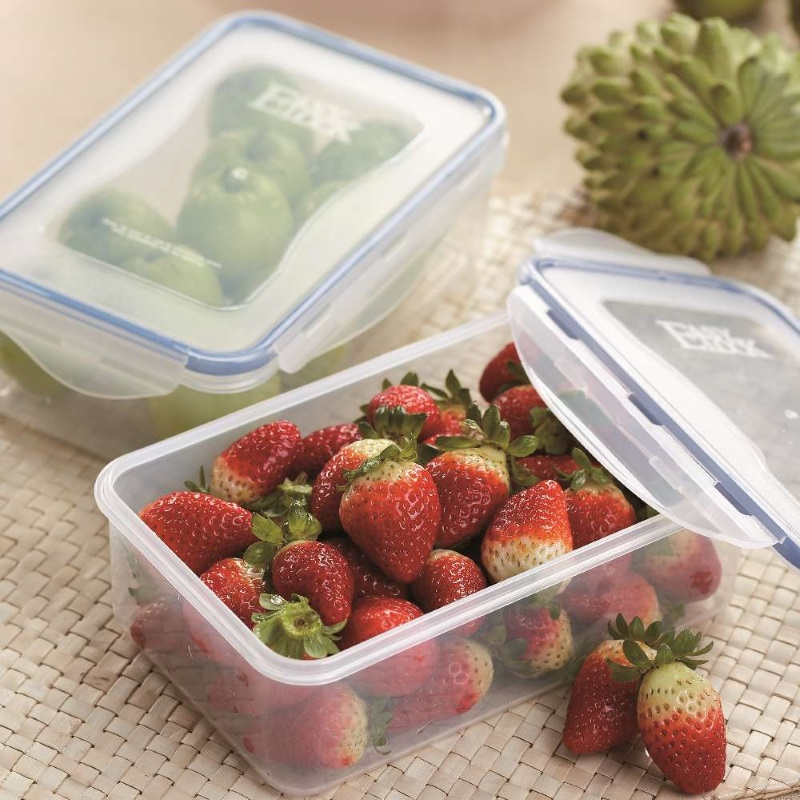 Stackable Plastic Food Containers with Lids
