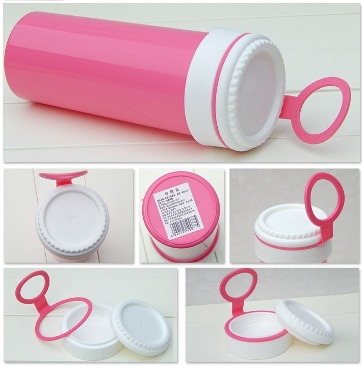 Stackable Plastic Lunch Box with Water Bottle
