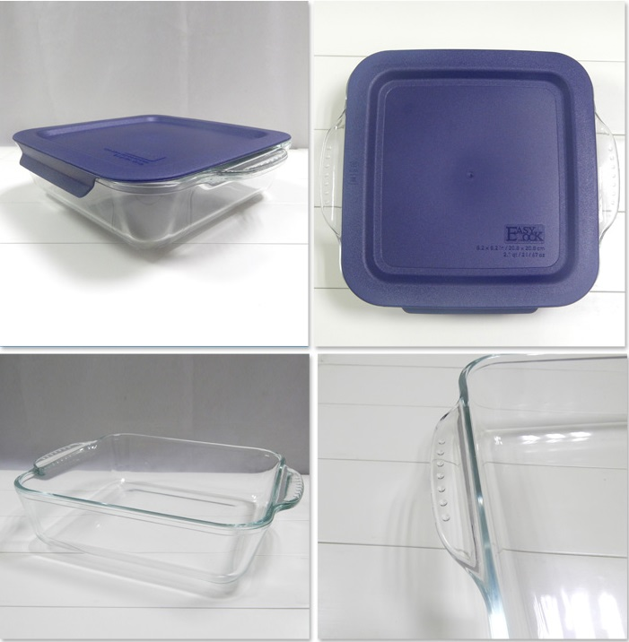 Wholesale Easylock Glass Bakeware with Plastic Lids