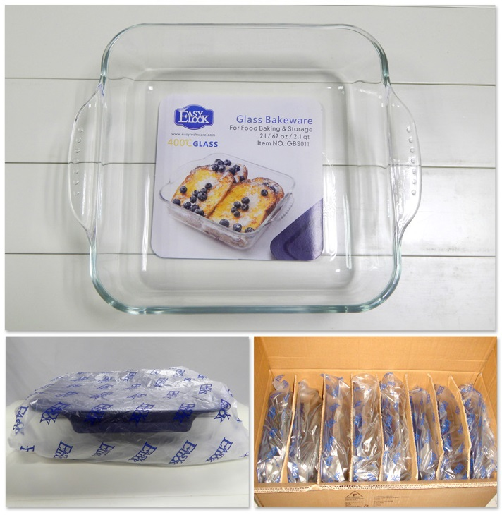 High Borosilicate Glass Baking Dishes for Food Storage