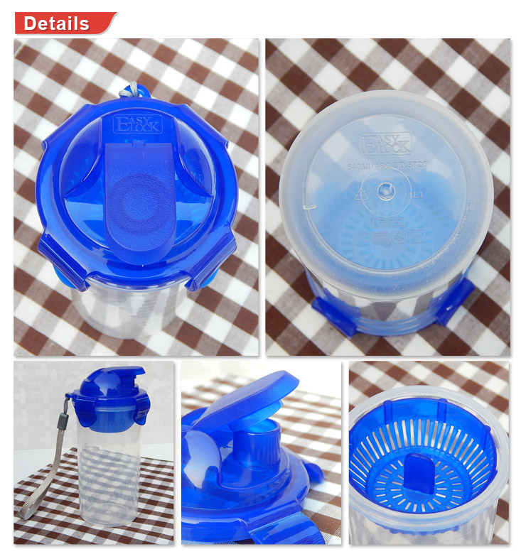 Plastic Sports Water Bottles with Flip Top Lid