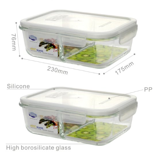 Divided Oven Safe Glass Food Containers