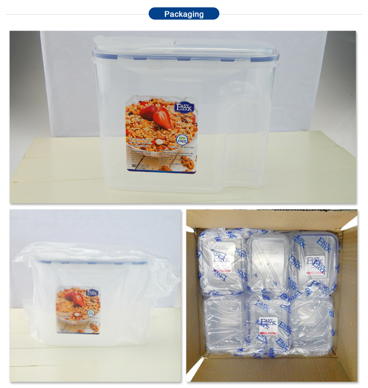BPA Free Kitchen Plastic Dry Food Storage Containers for Cornflakes Manufacturer