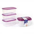 Large Reusable BPA Free PP Plastic Stackable Food Containers