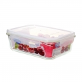 Large Hot-Sale Glass Food Containers with BPA-Free Plastic Lids