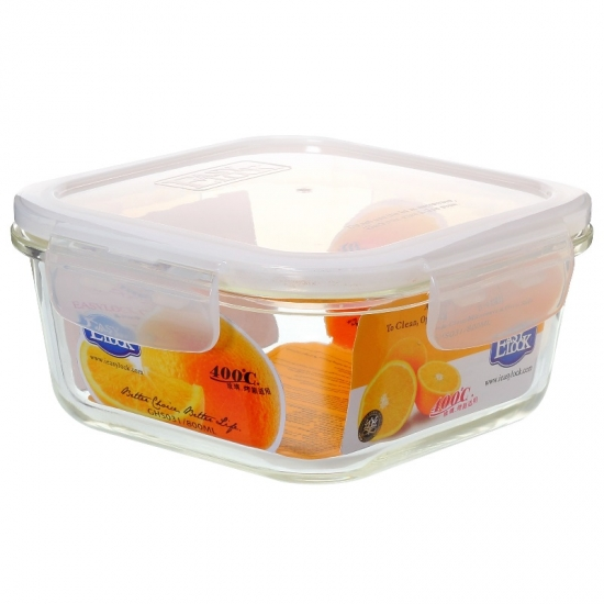 Stackable Freezer Safe Glass Food Storage Containers With Locking Lids
