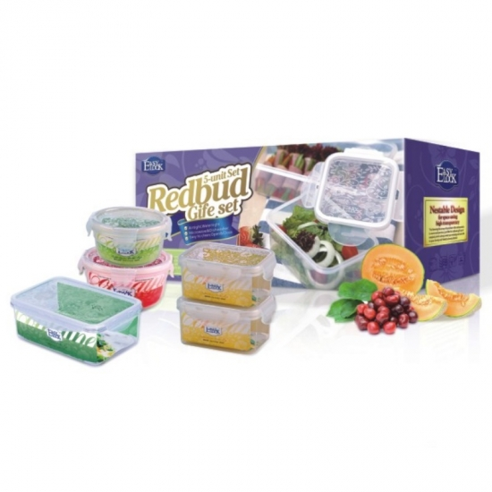 BPA Free Rebuds Plastic Reusable Freezer Food Storage Containers