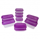 Microwavable Stackable Food Containers with Lids