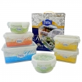Top Rated Freezer Safe Space-Saving Set of Food Storage Containers