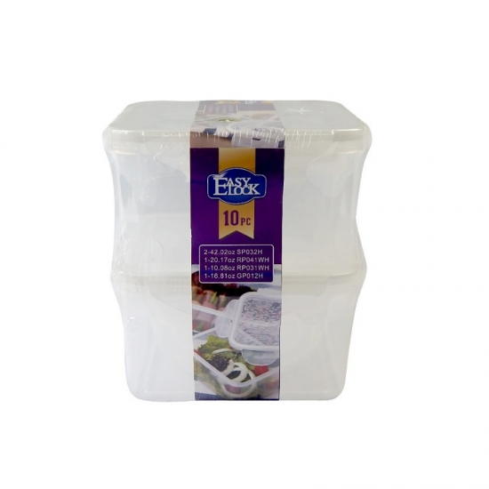 Easy Lock Airtight PP Plastic Food Storage Containers