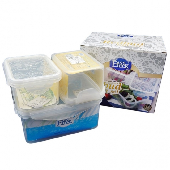 Easy Lock PP Plastic Food Safe Plastic Food Storage Container Sets
