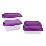 Rectangular Dishwasher Safe Food Storage Containers with Lids