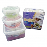 Water Tight Stackable Plastic Food Storage Container