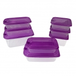 Freezer Safe Plastic Food Containers with Lids