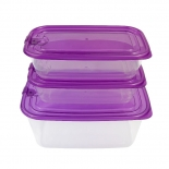 Microwavable Food Storage Containers with Plastic Lids
