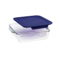 9 x 9 inch High-Borosilicate Square Glass Baking Dish with Plastic Lids