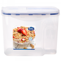 Tall Clear Airtight Cereal Server Breakfast Dry Food Storage Container