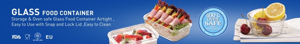 Rectangular Glass Food Container